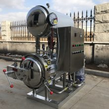 厂家供应强大400双层热水循环式杀菌锅玉米杀菌机
