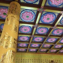 寺庙天花工艺彩绘吊顶古建筑彩绘吊顶厂家直销