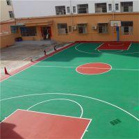 广东丙烯酸篮球场翻新 学校球场施工定制 小区网球场制作翻新涂料