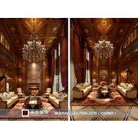 中国铁建山语城装修|独栋别墅|天古装饰设计师熊翔飞作品|美式风格