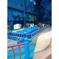 气垫大型水乐园支架泳池 露天水上乐园漂浮水滑梯 游乐钢架泳池水位是多高