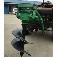悬挂式挖坑机 四轮带一米直径挖坑机视频