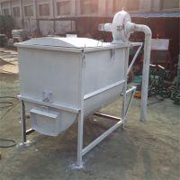 猪饲料专用卧式搅拌机 玉米自吸粉碎混合机 宿迁草粉搅拌桶定制