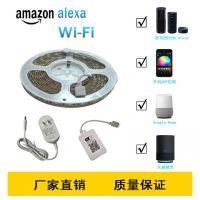雅祺厂家直销 跨境 亚马逊爆款WIFI智能灯条套装 Alexa手机APP语音控制5050RGB灯带