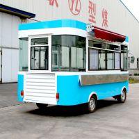 定制 多功能餐车电动四轮小吃车流动售货车移动快餐小吃车电动四轮餐车