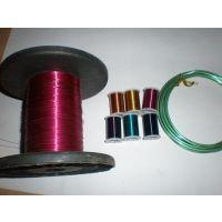 供应钢丝烤漆丝 DIY手工艺品用圆形彩色烤漆丝 量大颜色可定制