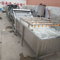 供应蔬菜清洗机 网带式自动出料机 康汇牌白菜清洗机