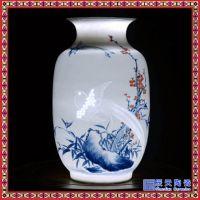 陶瓷花瓶粉彩仿古半刀泥纯手工高档工艺礼品台面摆件