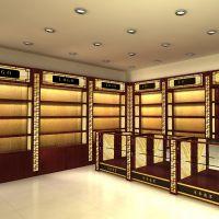 晟泽厂家供应优质药店展柜 参茸柜 中药展示柜 无锡木质展柜定制