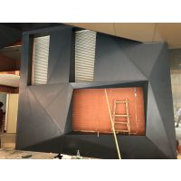 门头光线通透冲孔铝单板_1.85厚铝本色凹型铝幕墙天花
