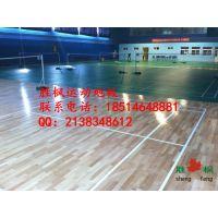 扬州训练馆专用运动木地板,室内羽毛球实木地板品牌胜枫