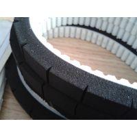 厂家直销,PU材质同步带表面加黑色海绵