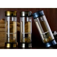 亿泉一键隔离式泡茶杯 双层玻璃杯茶杯茶水分离杯 便携创意水杯