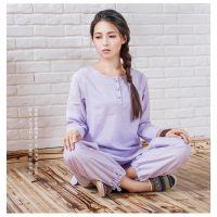 康愫雅可定制瑜伽服套装 禅修服工厂直销 企业机构培训衣服K520