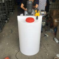 石家庄耐高温耐腐蚀食品级平底加药箱300Lpe环保药箱