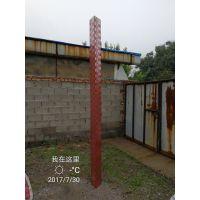 金水华禹厂家定做304不锈钢水尺5三角形圆柱水尺宽水标尺水位尺水位标尺