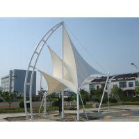 安装体育张拉膜 PVC展览管屋顶膜结构环保型遮阳小品