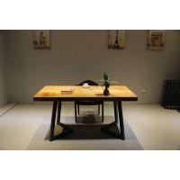 美式乡村实木餐桌原生态不规则桌办公桌会议桌大板桌电脑桌原木桌