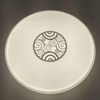 现代LED吸顶灯圆形48w祥云三色变光