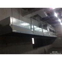 通州区潞城饭店排烟罩制作,白铁排烟通风管道安装,铁皮焊接维修