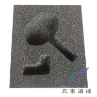 弧形挖空海绵包装内衬加工 一体弧形海绵成型不贴合