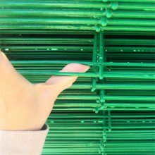 绿色圈地护栏网 草原隔离铁丝网 浸塑铁丝网