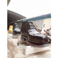 户外大型仿真皮鞋雕塑玻璃纤维皮鞋模型制作