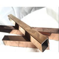 佛山真空电镀彩色管、201装饰特用不锈钢管、电镀无指纹钛金彩色管