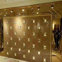 定制微晶石玻璃加金属框 六边形艺术拼镜 江苏南京厂家 出口品质