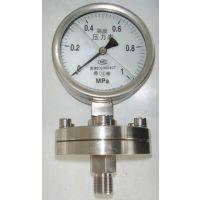无锡科佳螺纹连接隔膜式压力表Y-60/Y100/Y150-ML