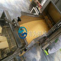 生产雪花鸡柳设备 鸡柳条上糠机生产线 粘雪花片机器