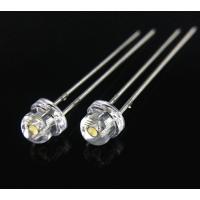 厂家直销 F5草帽暖白光 F5草帽暖白色灯珠 5mm发光二极管 LED指示灯