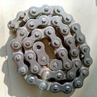 定做不锈钢08b滚子链条 4分单排双节距标准链条配件厂家