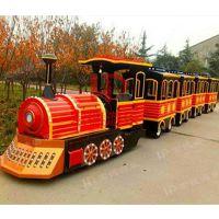郑州宏德游乐户外儿童乐园观光火车商场人气产品无轨电瓶小火车一拖三定制