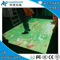 华泽光电P3.91室内地砖屏互动雷达感应酒店商场T台活动LED地屏