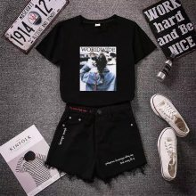 夏装韩版新款牛仔磨破短裤韩版修身显瘦女式短裤三分裤潮