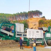 广东潮州100吨移动破碎站运转流畅稳定,故障率低