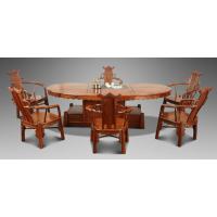 中山红木茶桌家具 名琢世家刺猬紫檀红木猪腰茶台6件套批发价格