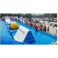 新款夏季水上乐园趣味游乐设施 水滑梯运动项目充气水池 游泳池气垫