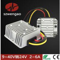 DC-DC自动升降压电源车载稳压器9-40V变24V2A3A4A6A电源模块稳压器