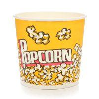 喇叭花85盎司一次性爆米花桶纸桶爆米花杯零食纸杯纸桶150个批发