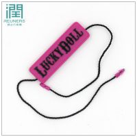 (润之行)生产服装丝带滴胶吊粒定做 通用现货 吊牌绳定制 低价定制