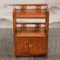 红木茶柜中式仿古餐边柜纯实木刺猬紫檀小茶柜檀明宫储物柜碗柜