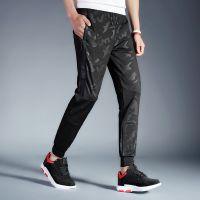 雷宾迪 17夏季时尚新款针织裤男款修身弹力休闲裤户外透气登山服S619