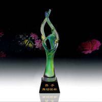 天津水晶奖杯定制雅邦水晶,款式新颖,价格合理