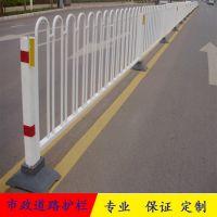 道路交通防撞护栏 镀锌方钢城市护栏 非机动车安全隔离栅栏