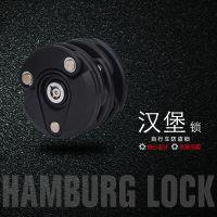山地自行车锁汉堡锁固定链条锁折叠锁电动车摩托车防盗锁单车配件