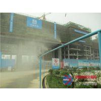 西安杰欧环保在咸阳秦都垃圾处理厂工地围栏喷淋系统安装100多个喷头,很好的起到了降尘出霾的作用