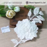 厂家直销现货时尚新款蕾丝锦纶绣花、手工面料