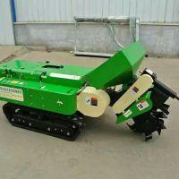 低矮型自走式施肥开沟机 履带式田园管理机山东思路供应农业机械
